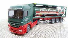 Wiking H0 053603 Tankcontainersattelzug MB Actros  Neu OVP