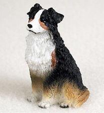 Australian Shepherd Mini Resin Hand Painted Dog Figurine Tri
