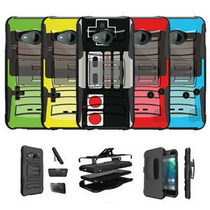 For HTC U11 Life Protective Dual Bumper Kickstand Case - Retro Game Designs