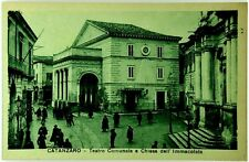 Cartolina Formato Piccolo - Catanzaro - Teatro Comunale E Chiesa Dell'Immacolata