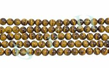 Tiger Eye Beads Ball Shape Craft Jewelry Beads Natural Gemstone 8mm -5 Strands