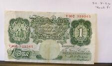 £ 1 una libra Nota Beale-Y36C 329565-circulado (20.8.24)