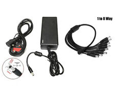 12V 4A Power Supply Adapter Transformer With 8 Way Splitter For CCTV System