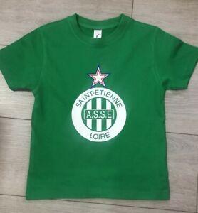 tee shirt enfant personnalisé foot saint etienne ASSE avec prénom de votre choix