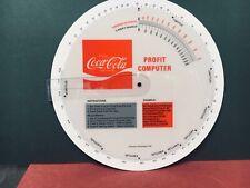 1973  COCA-COLA SALESMAN PLASTIC PROFIT COMPUTER WHEEL-INTERNAL USE-NEAR MINT