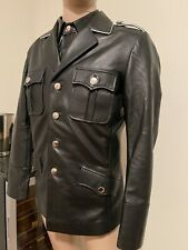 Leather German Officer Tunic Coat