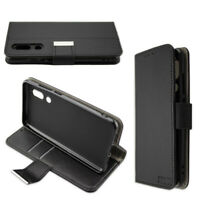 caseroxx Bookstyle-Case for Sharp Aquos C10 in black made of faux leather