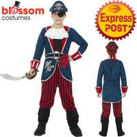 CK1002 Deluxe Pirate Boys Costume Captain Hook Buccaneer Kids Fancy Book Week
