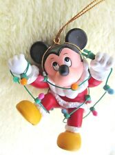 """ornament Mickey Mouse 3 1/2"""" Disney Christmas collectible vintage used in box"""