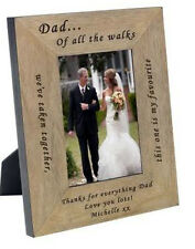 """Dad Father of the Bride wedding gift 6""""x 4"""" Oak frame Personalised Gift CD10"""