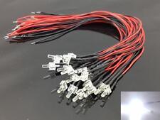 L1220W 20pcs Pre Wired 2mm Bright White Led Lamp Light Set 12V ~ 18V NEW