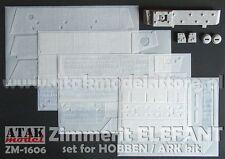 1/16 ATAK MODEL ZM-1606 ZIMMERIT for GERMAN ELEFANT (for HOBBEN / ARK kit)