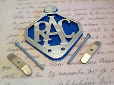 Rac-car-badge-bar-badge-chrome-plate-blue-backing Aa Coleccionable