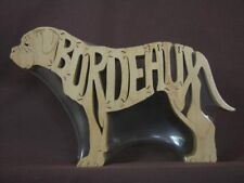 Dogue de Bordeaux Dog Wood Amish Made Puzzle Toy