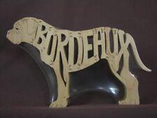 Dogue de Bordeaux Dog Wood Amish Made Puzzle Toy Art Figurine