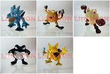 B#055] 5x Pokemon Figures 4-5cm: Golduck Mankey Primeape Poliwrath Kadabra
