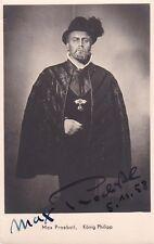 MAX PROEBSTL opera bass signed photo as King Philip II in Don Carlo, 1958
