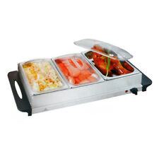 NJ-9003 Buffet Warmer Food Server 300W Stainless 3x2.5L Pan Large Hot Plate Tray