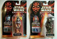 Star Wars Episode 1 Action Figures Nute Gunray & Rune Haako New Sealed (Read Des