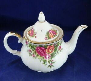VINTAGE TEAPOT ROBINSON ENGLISH GARDEN FINE CHINA 1898 JAPAN LOVELY FLORAL