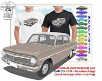 CLASSIC 63-65 HOLDEN PREMIER SEDAN ILLUSTRATED T-SHIRT MUSCLE RETRO SPORTS
