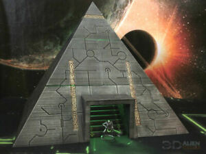 CC3D - Runic/ Necron Pyramid - Wargames Miniatures Scenery 40k 28mm 15mm