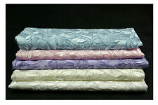 "49.5"" Floral Embroidered Organza Fabric Blue Pink Lavender Ivory White"