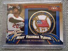 Frank Robinson 2013 Topps 1971 MVP Commemorative Patch Card