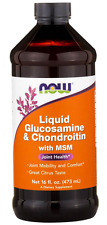 NEW NOW FOODS LIQUID GLUCOSAMINE CARE SUPPLEMENT DIETARY HEALTH DAILY SUPPORT
