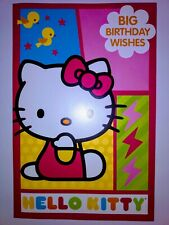 ✓ Large hello Kitty cutout Birthday Card Sanrio American greetings little girl
