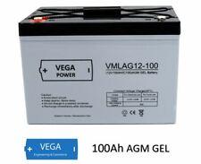 12V 100Ah AGM Gel Batterie Akku Solarbatterie USV Wohnmobil Boot C100
