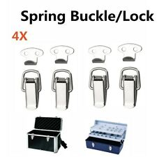4Pcs Case Box Lock Toggle Latch Hasp Spring Loaded Latch Buckle Stainless Steel