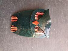 LEA STEIN BOUBA OWL BROOCH SIGNED CLASP