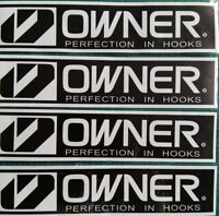 """Lot of 4  OWNER Perfection in Hooks 8""""  Vinyl Stickers"""