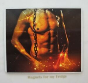 SEXY MALE CHEST BODY / CHAINED FRIDGE MAGNET - M824 F