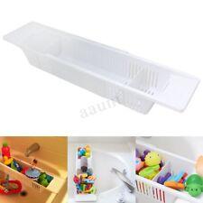 Adjustable Retractable Storage Basket Kids Bath Tub Shower Toy Organizer