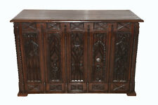 Antique French Gothic Desk, Intricately Carvings Depicting Demise of St. Denis