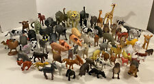 Mixed Lot Of Plastic Zoo & Farm Animal Figures Toys