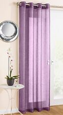 Glitter Sparkle Effect Voile Net Curtain Panel Eyelet Ring Top Ready Made Purple 229 X 138cm / 90 X 54in