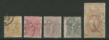 GREECE GREEK 1896 'FIRST OLYMPIC GAMES '' FIVE VALUES USED LOOK (ΕΔ 08)