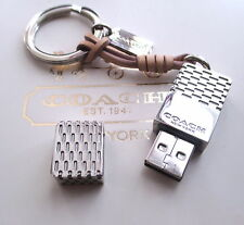Coach 8GB USB Flash Jump Drive Memory Stick Key Chain Fob Charm Keychain