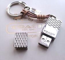 Coach 8GB USB Flash Jump Drive Memory Stick Key Chain Fob Charm Keychain