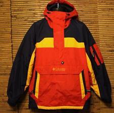 Columbia Coat Jacket Women's Size M Runs BIG (Fit L XL) Red Navy Yellow EUC!