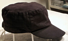 Black Soot Flat-Top Baseball Type Woman's Hat/Cap w/Adjustable Strap