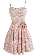 NWT Designer Fashion Cute Pink Lace Dress, Size S