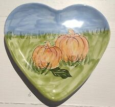 "8"" Autumn PUMPKIN PATCH HARVEST PLATE  MESA INTERNATIONAL POTTERY PLATE"