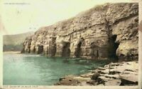 Caves Of La Jolla Cliffs Edge View San Diego California CA Vintage Postcard