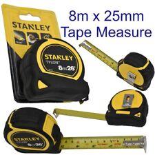 Stanley Tape Measure Tylon Measuring Rule 8M x 25mm Black Yellow  0-30-656