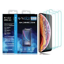 3xGENUINE NUGLAS Tempered Glass Screen Protector Apple iPhone X XS 8 7 6S Plus