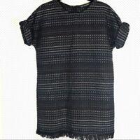 Zara Trafaluc dress full back zip black sz S